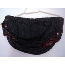 Shorts Cobre Fralda Gg Pura Mania Jeans Com Babados
