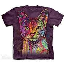 Camiseta Russo Green Gato/ Abyssinian Cat - Original