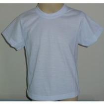 Camiseta Infantil Lisa 100% Poliéster Camisa Sublimação