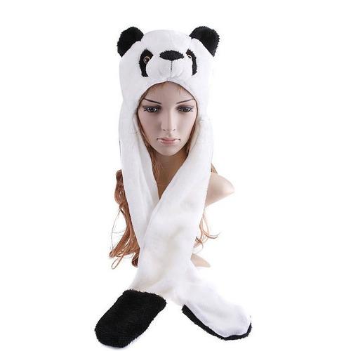 Touca Gorro Bichinho Pelúcia C  Cachecol Cosplay Urso Panda b0113f9b9e0