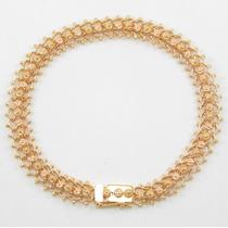 Esfinge Jóias - Pulseira Bracelete Em Ouro Rosê 19k 800.