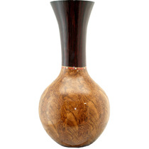 Vaso Grande Em Madeira 41 Cm Decorativo Rústico Frete Grátis