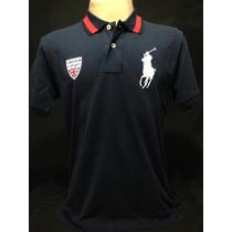 Camiseta Polo Ralph Lauren Azul Marinho Big Poney Tam P