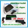 Play 2 Ps2 Slim Destravado +10jogos+2controles+leitor Novo