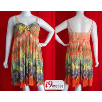 Vestido Estampado Verão Curto Malha Floral Lindo Promoção