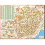 Mapa Geo Político Rodoviário De Minas Gerais - Frete Grátis
