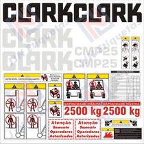 Kit De Adesivos Para Empilhadeiras Clark