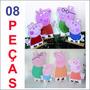 8 Display De Chão Da Familia Peppa Pig, Totem Painel Cenário