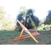 Cadeira Espreguiçadeira De Madeira