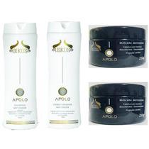 Kit Oikos Apolo Matizador Shampoo + Cond.+ 02 Máscaras 250g