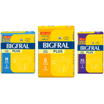 Fralda Bigfral Plus G 08 Un (kit 10 Pacotes)
