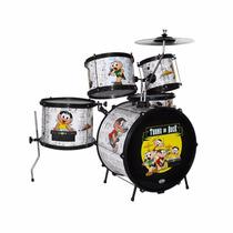 Bateria Infantil Luen Percussion - Turma Da Mônica Maxcomp