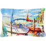 Elevando-q Veleiro Lona Tecido Decorativa Pillow Jmk1088pw12
