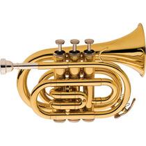 Frete Grátis - Eagle Tp520 Trompete Pocket Em Sib Laqueado