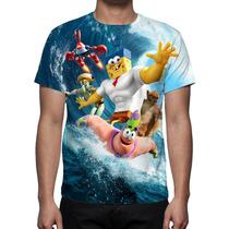 Camisa, Camiseta Filme Bob Esponja Um Herói Fora D´água 2015