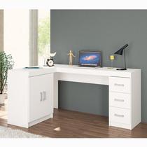 Mesa Para Computador Kit Espanha 2 Portas 3 Gavetas