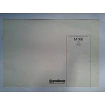 Manual Original Amplificador Gradiente M166