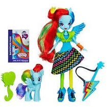 My Little Pony Equestria Girls Rainbow Dash Com Poney Hasbro