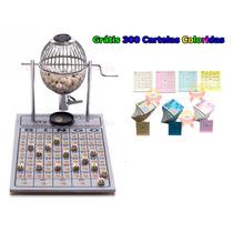 Bingo Completo Globo Nº1 Zincado + 300 Cartelas Coloridas