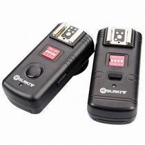 Radio Flash Trigger 16 Canais 2.4ghz Canon 2 Transceptores