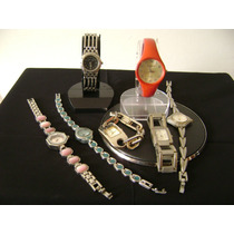 Lote De 07 Relógios De Pulso Feminino Diversas Marcas