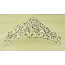 Tiara Coroa Pente Princesa Noivas Festa Strass Debutantes 7