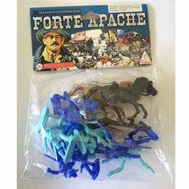 Forte Apache Conj C/ 12 Figuras Soldado + 2 Cavalos Gulliver