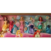 Kit 3 Bonecas Princesas Disney + 9 Vestidos - Estilo Frozen