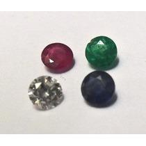 2 Safira De 1mm 2 Rubi De 1mm 2 Esmeralda 1mm 2 Diamante 1m