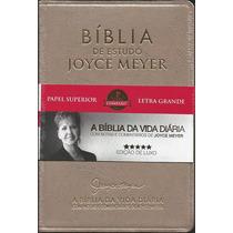 Bíblia De Estudo Joyce Meyer - Letra Grande | Luxo Dourada
