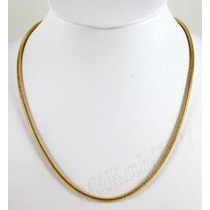 Corrente/cordão Rabo De Rato Redonda Aço Inox3,2mm Cor: Ouro