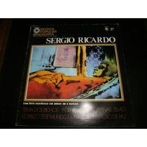 Lp Mpb Sergio Ricardo, Disco Vinil C/ Fascículo, Ano 1971
