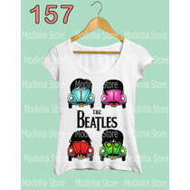 Blusa Tshirt Feminina Estampa The Beatles Banda Rock Fuscas