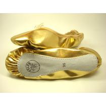 Sapatilha Dourada Ou Prata Meia Ponta Ballet