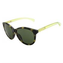 Óculos De Sol Calvin Klein Jeans Tartaruga Haste Verde