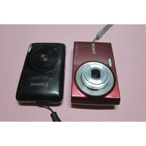 Cameras Sony E Canon 12 E 14 Mega Pixel No Estado!!!