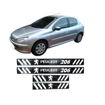 Soleira Vinil Preto Brilhante Peugeot 206 4 Portas