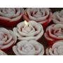 Vela Flutuante Mini Rosa - Pacote Com 10 Unidades