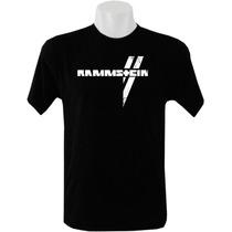 Camiseta Tradicional Masculina Bandas Rock Rammstein
