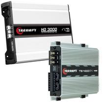 Dueto Taramps Dig. Hd 3000w Rms 2 Ohms + Ts-400x4 400w Rms