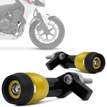Slider Cb500f 2013 2014 Racing Rsi Honda Moto Dourado Claro