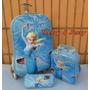 Kit Mochila Infantil Frozen Elza + Lancheira + Estojo 3d