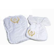 Kit Capa Para Carrinho E Bebê Conforto 100% Algodão Bordado