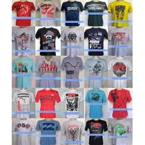 Kit 50 Camisas Camisetas De Marca Atacado Revenda E Lucre