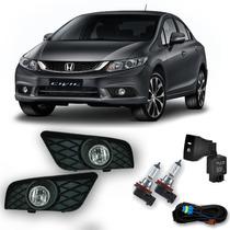 Kit Farol De Milha Honda New Civic 2015 + Kit Xenon