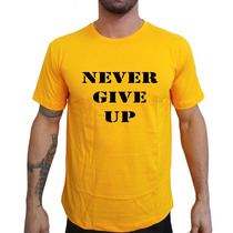 Camiseta Mma Shop Never Give Up