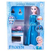 Conjunto De Cozinha Do Filme Frozen Com Boneca Elsa 30 Cm