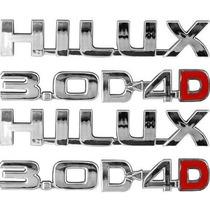Emblemas Hilux 3.0 D4d Kit Com 6 Peças Sendo Um Par De Cada