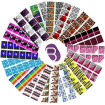 12 Cartelas 144 Adesivos Unha Inteira Decorada Películas