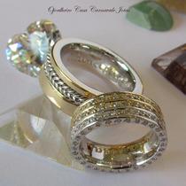 Alianças Chapa Reta Anatômica Ouro 18k Maciço 200 Diamantes